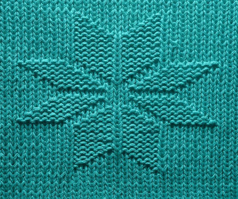 Strick Zahlmuster Fur Einen Stern Decke Stricken 14