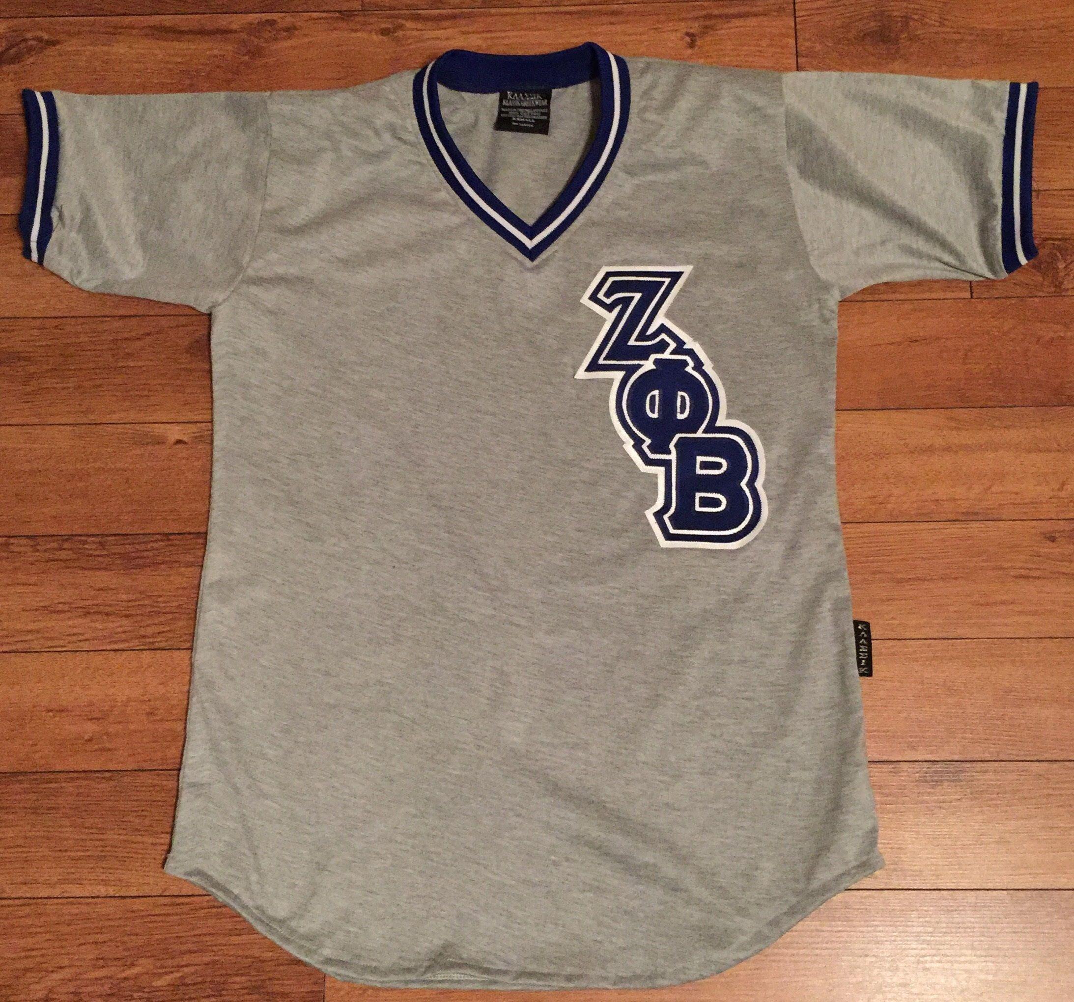 Zetaphibeta Retro Baseball Jersey Reflective Klassik Greekwear Zeta Phi Beta Reflective Mens Tops