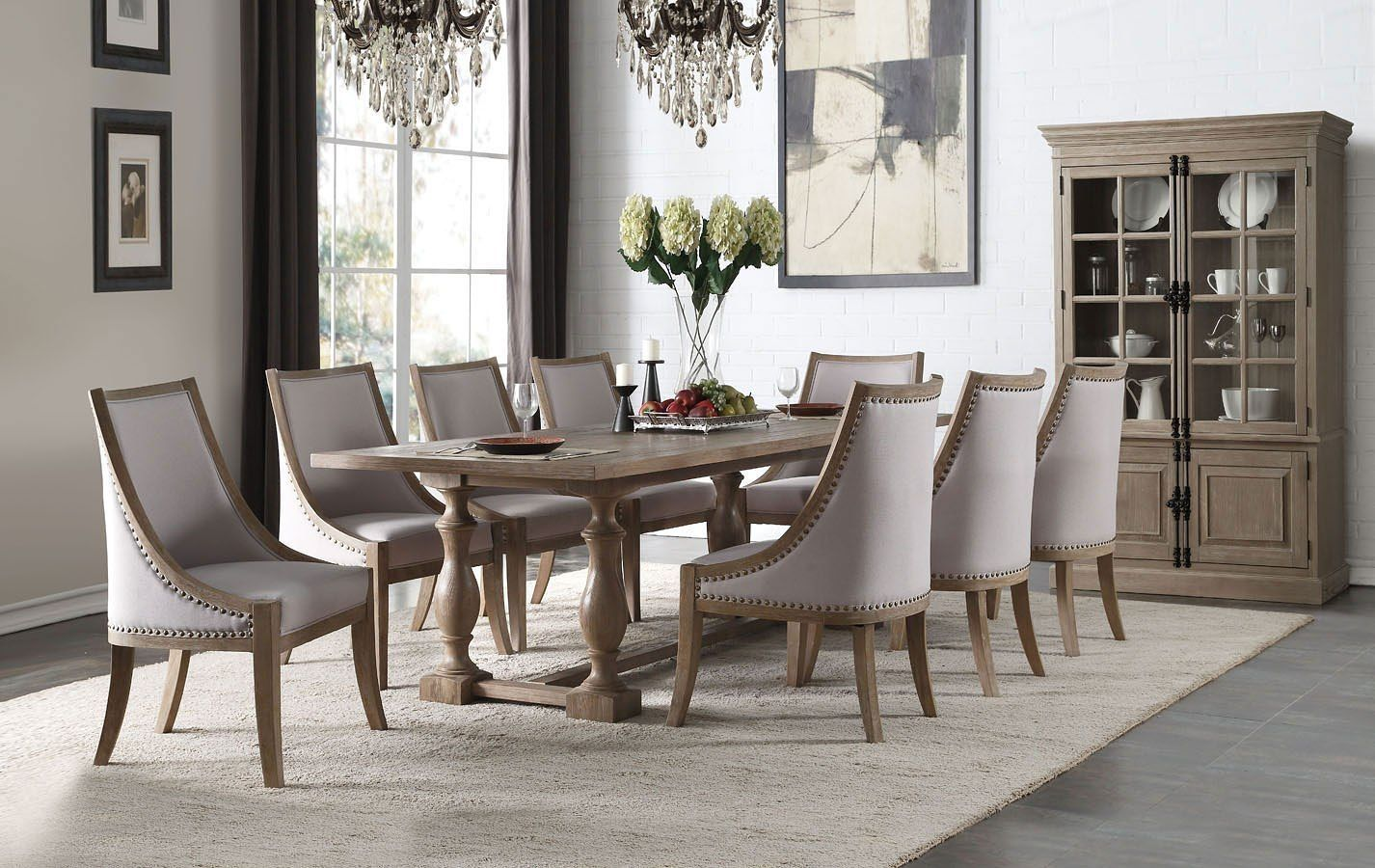 Eleonore dining room set farmhouse style dining table