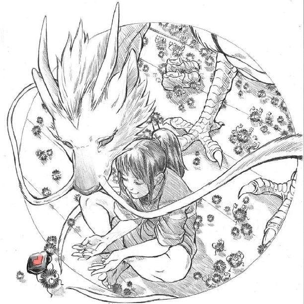 Pin De Medusa Em Desenhos A Viagem De Chihiro Haku A Viagem De