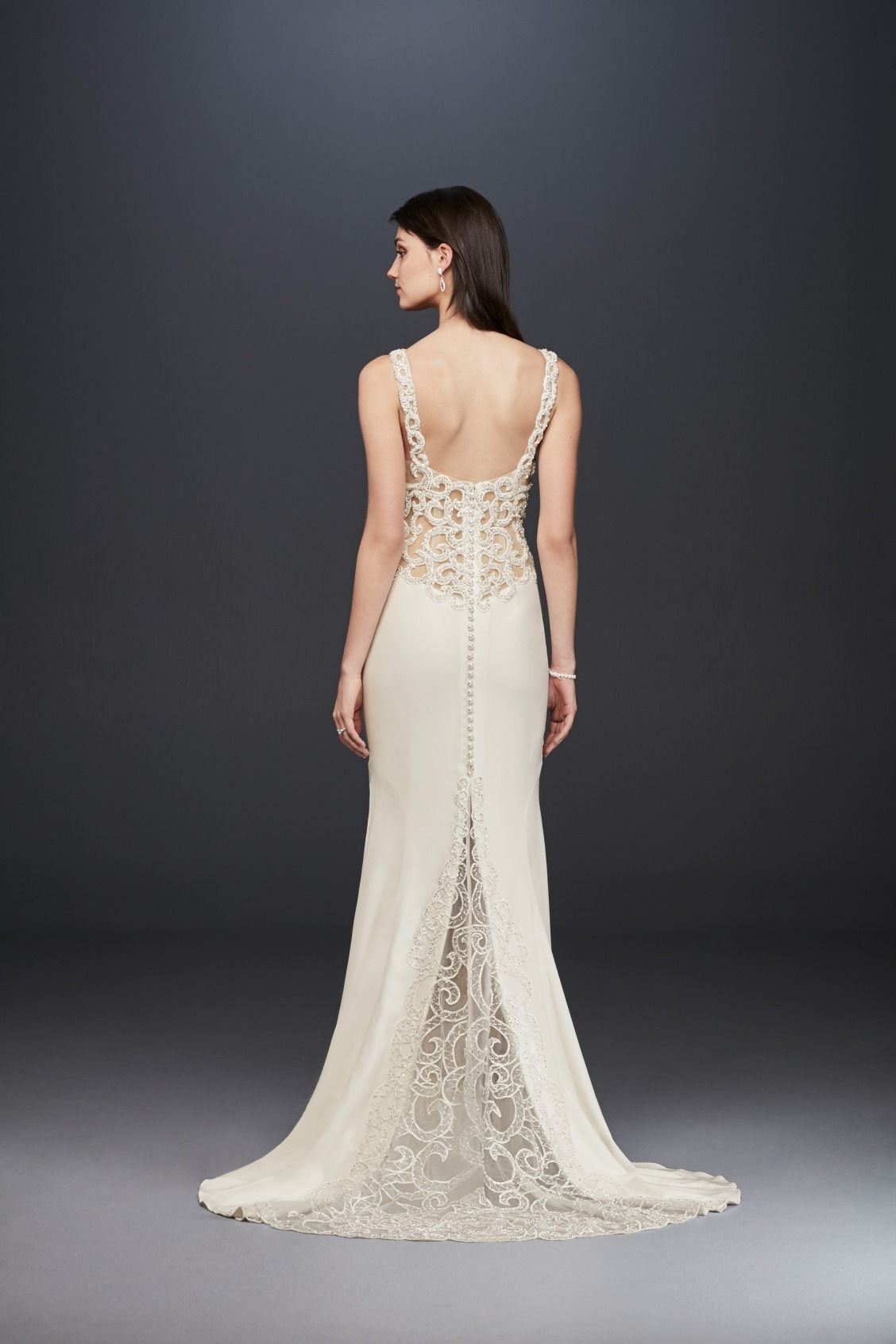 Galina signature wedding dress  Swirling lace perfection The unique lace pattern on this wedding