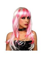 Pink Amp White Goth Wig For Women Party City Love It Bran That Would Be My First Pic For Ya Ladies Party Wigs Halloween Wigs