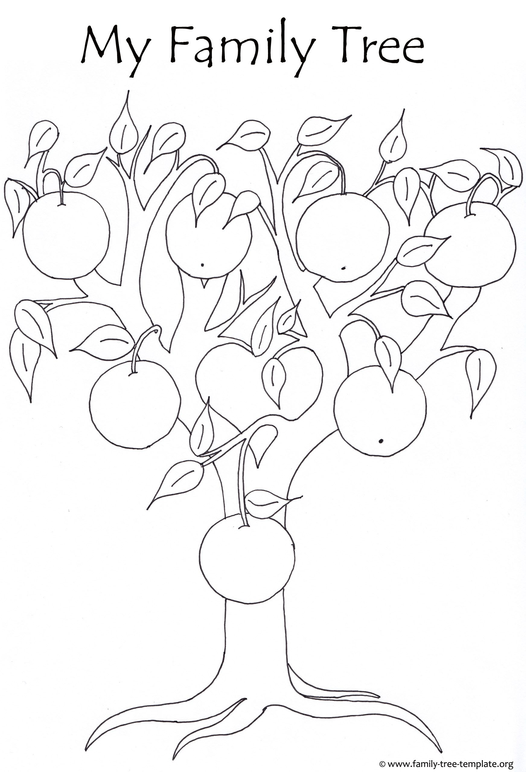 Orange tree for kids to color life book family tree family