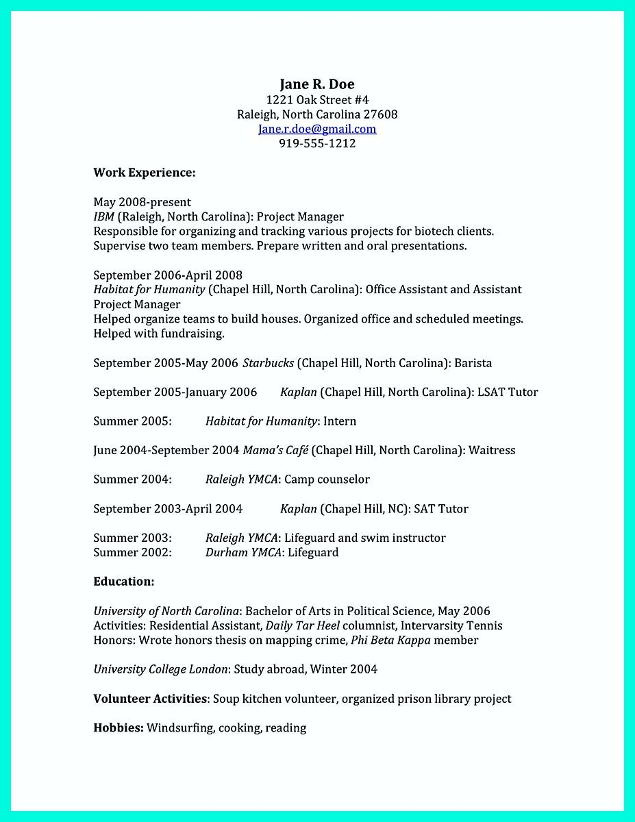 College Resume Format Nice The Perfect College Resume Template To Get A Job  Resume