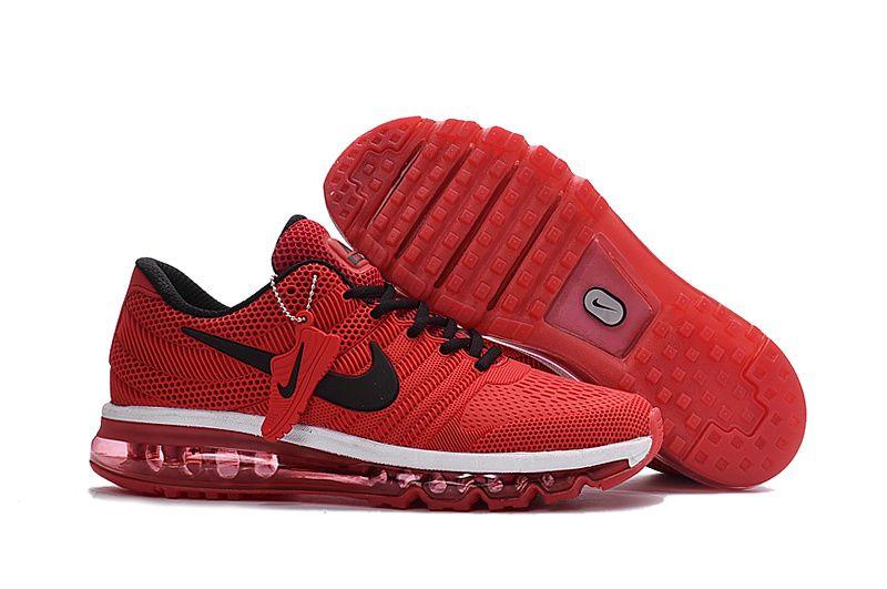Mens Nike Air Max 2017 Wine Red Black Kpu Upper Running Shoes Nike Air Max Cheap Nike Air Max Red And Black Shoes