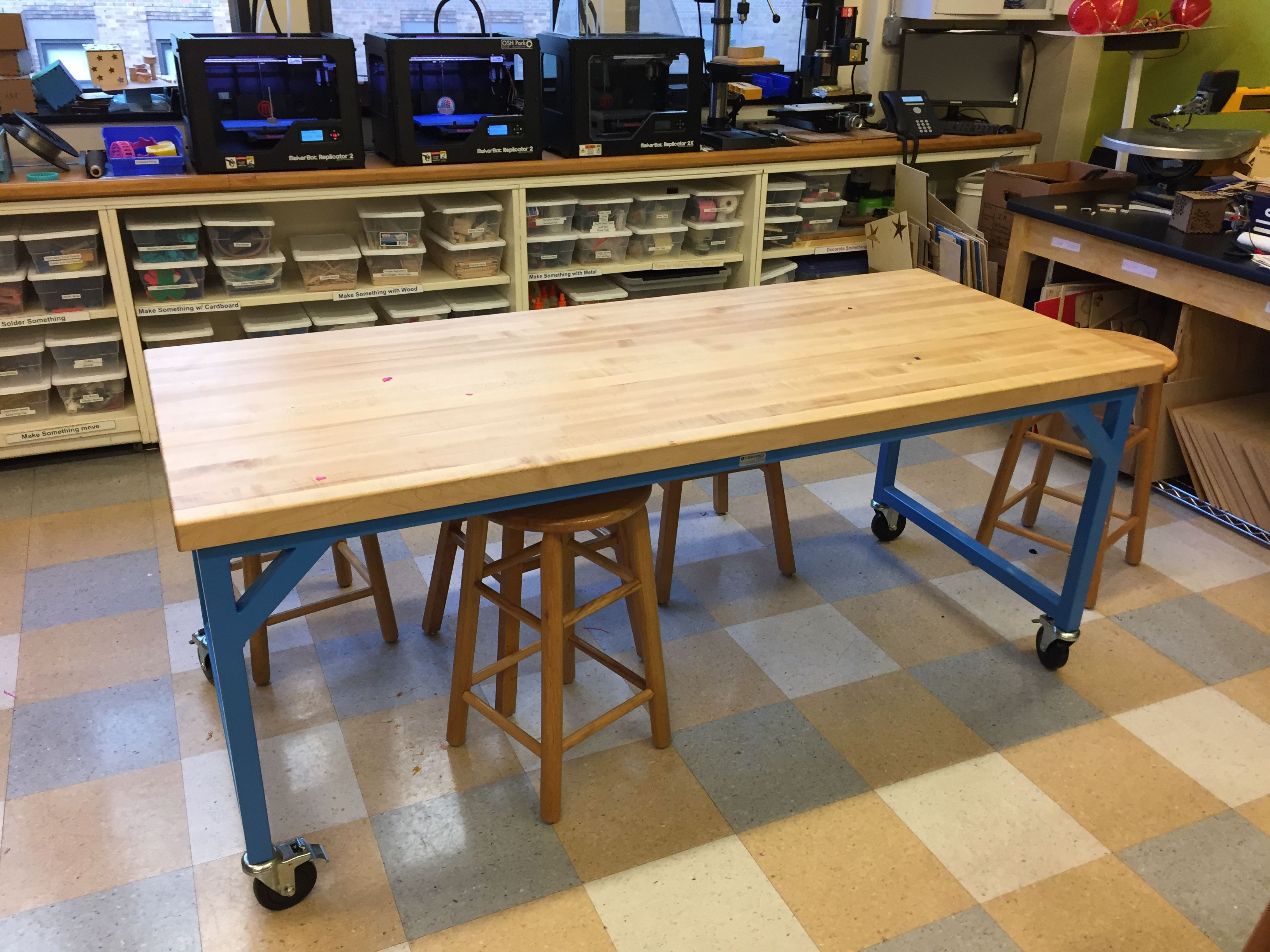 Great table made by FormaSpace at Marymount middle school fab lab