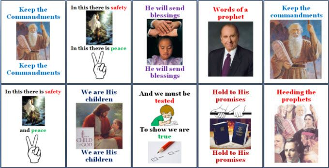 Keep The Commandments Flipchart Lds Primary Songs Primary Singing Time Primary Songs