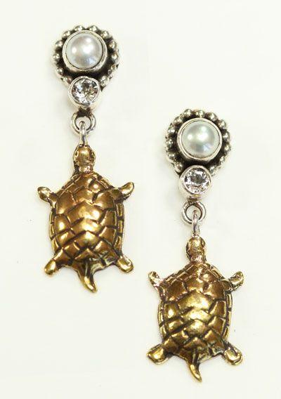 mars valentine turtle post dangle earrings - Mars And Valentine