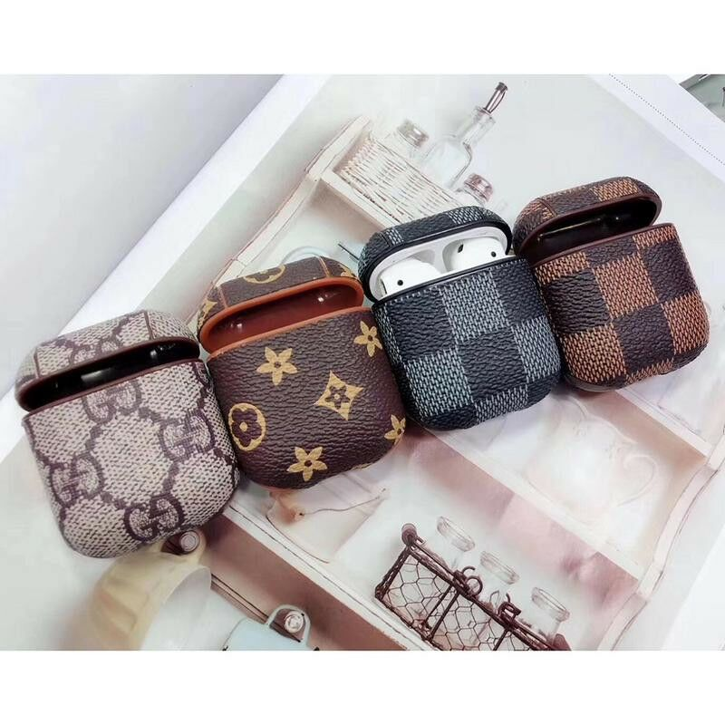 Airpods Protective Case Pu Leather Bag Earphone Cover Shell For