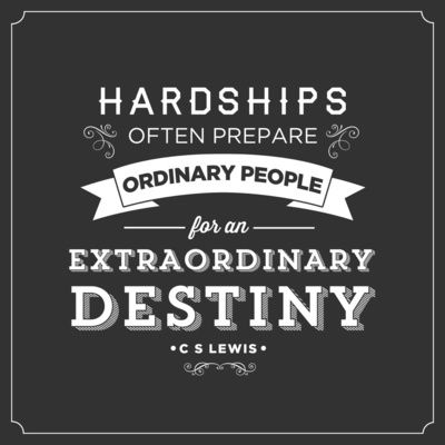 Hardships Quotes Life People Positive Ordinary Destiny Religion