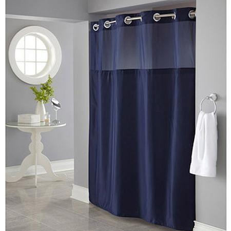 Home Blue Shower Curtains Hookless Shower Curtain Blue