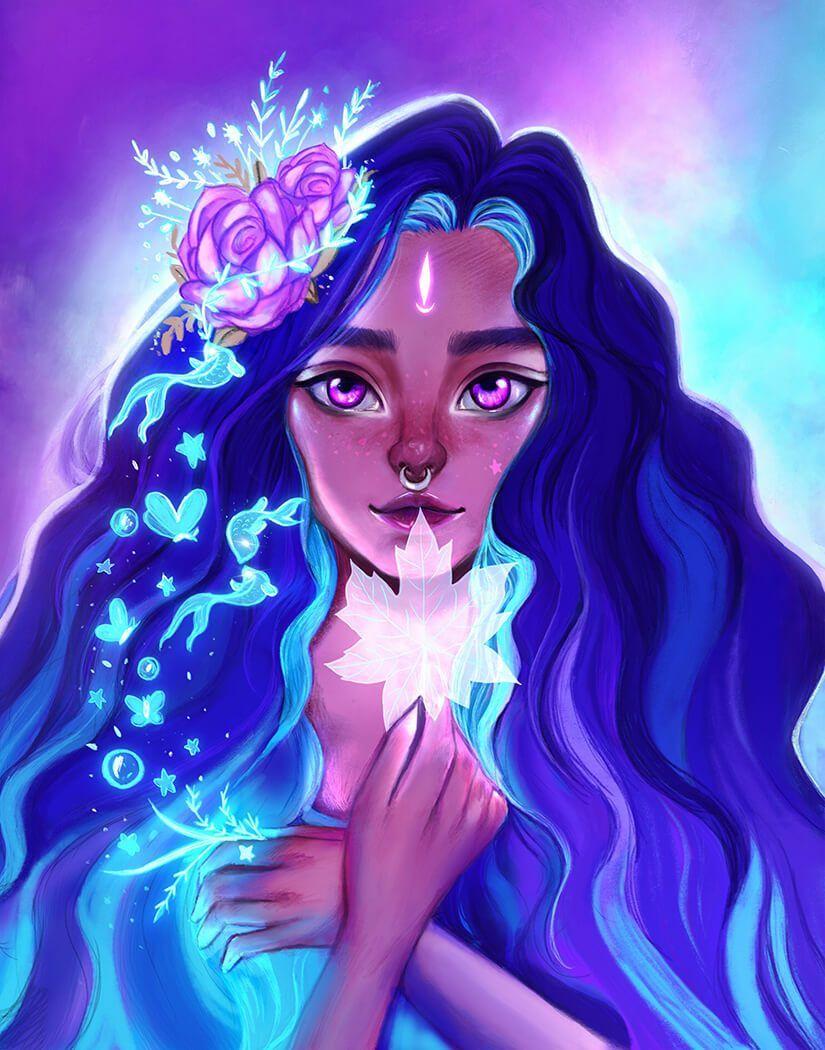 Moon Girl Art Drawings Black Girl Art