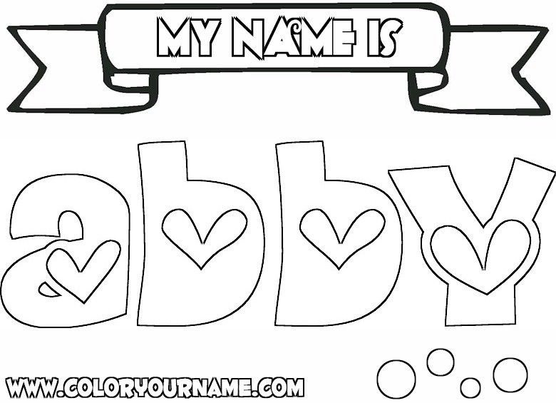 The Name Abby Colouring Pages Enjoy Coloring Name Coloring Pages Coloring Pages Colouring Pages