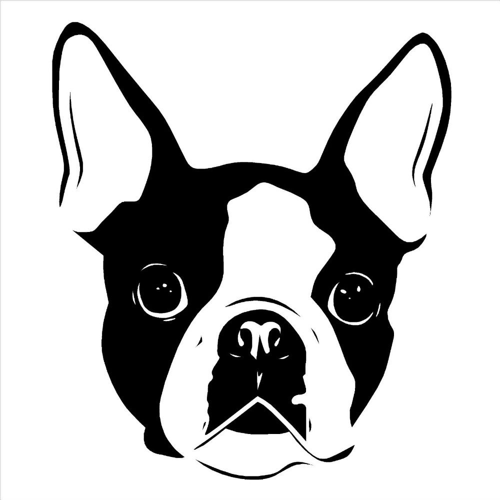 Https Ae01 Alicdn Com Kf Htb1g5 7jvxxxxcyxpxxq6xxfxxxv Cute Animal Font B Wall B Fo Boston Terrier Tattoo Boston Terrier Art Boston Terrier Art Illustrations