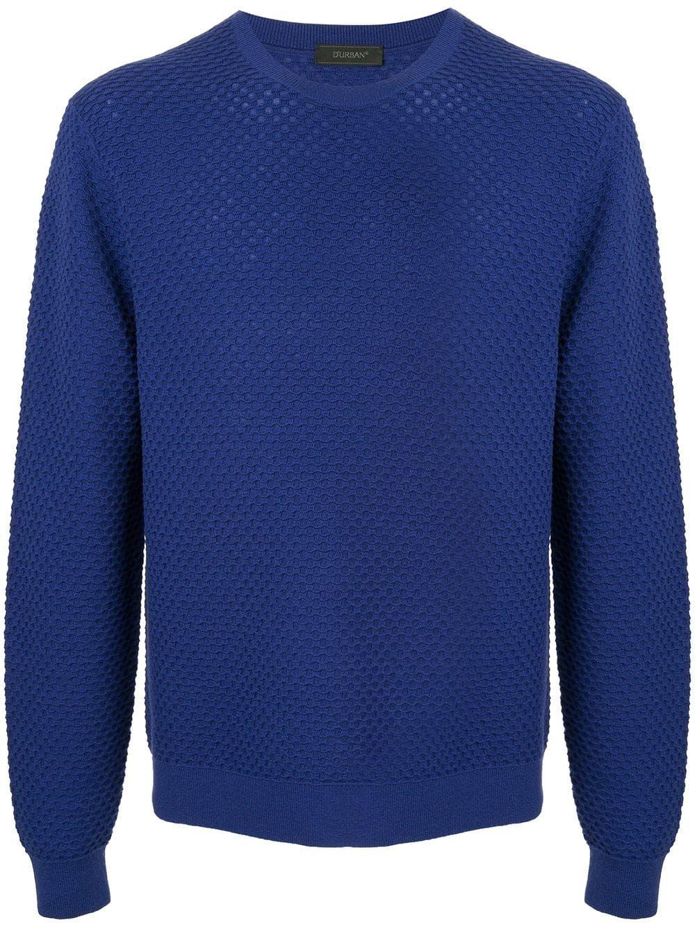 Neck Round D'urban Jumper durban Blue cloth g4q5H4