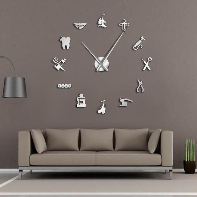 A perfect DIY wall clock for a dental clinic/officeThis modern version of clocks is not merely used to show time but also a decorative item in a dental office or room interior.Here's Why You'll Love This:These amazing designs are truly great ... #dentist