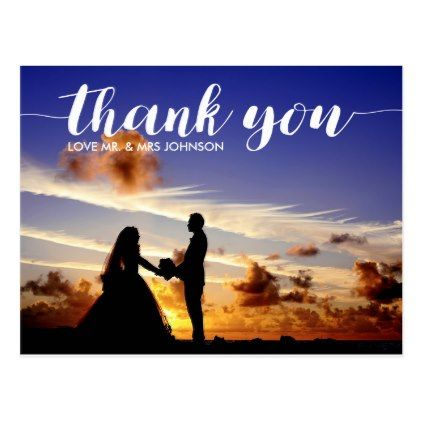 #photo - #Personalized Thank You Wedding Postcard Note