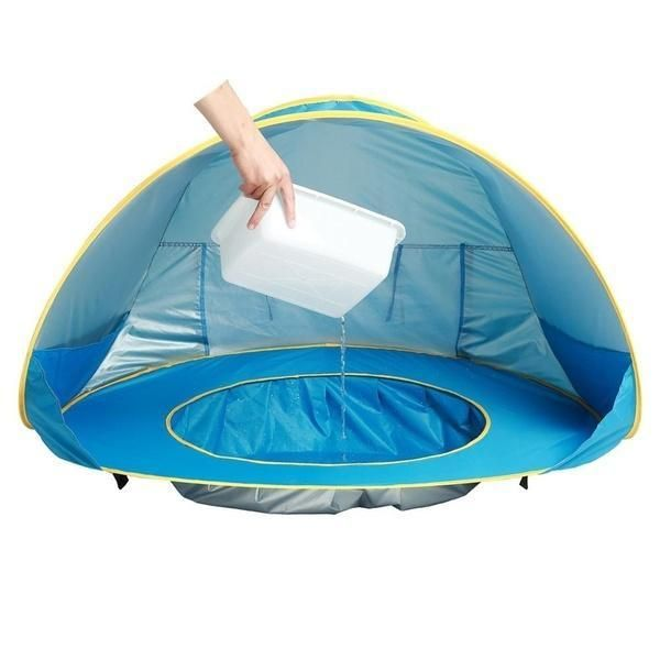 Outdoor Baby Beach Tent Sunscreen Waterproof Beach Pool With Tent Swimming O9C7