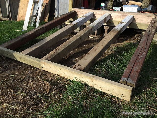 DIY Garden Shed Ramp from recycled materials. For