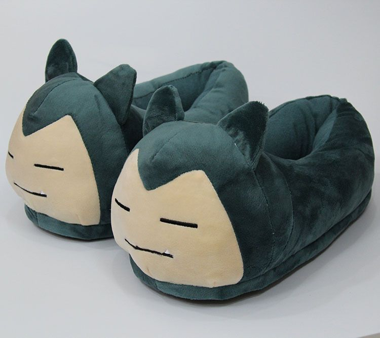 Pokemon Go Snorlax Indoor Slippers Full Surround Fuzzy Shoes Warm Anime Slipper Buyclothingshoes Com Clothing Pokemon Slippers Pokemon Snorlax Plush Dolls