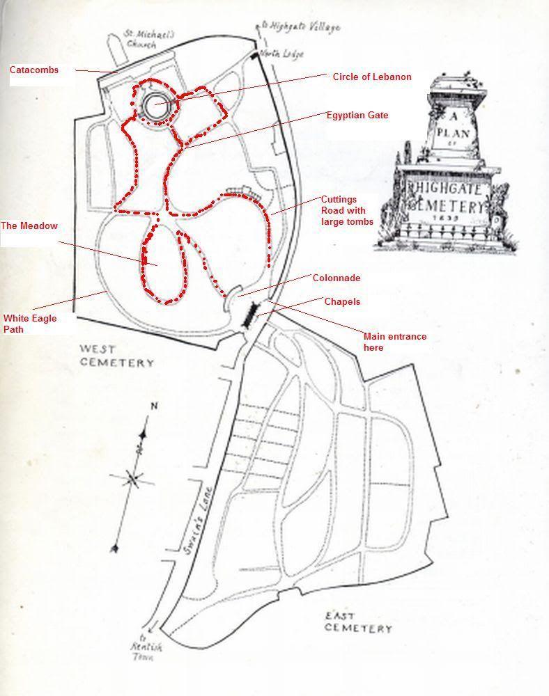 Highgate Cemetery Map west highgate cemetery map | Before We Fall   Wildham Book 2  Highgate Cemetery Map