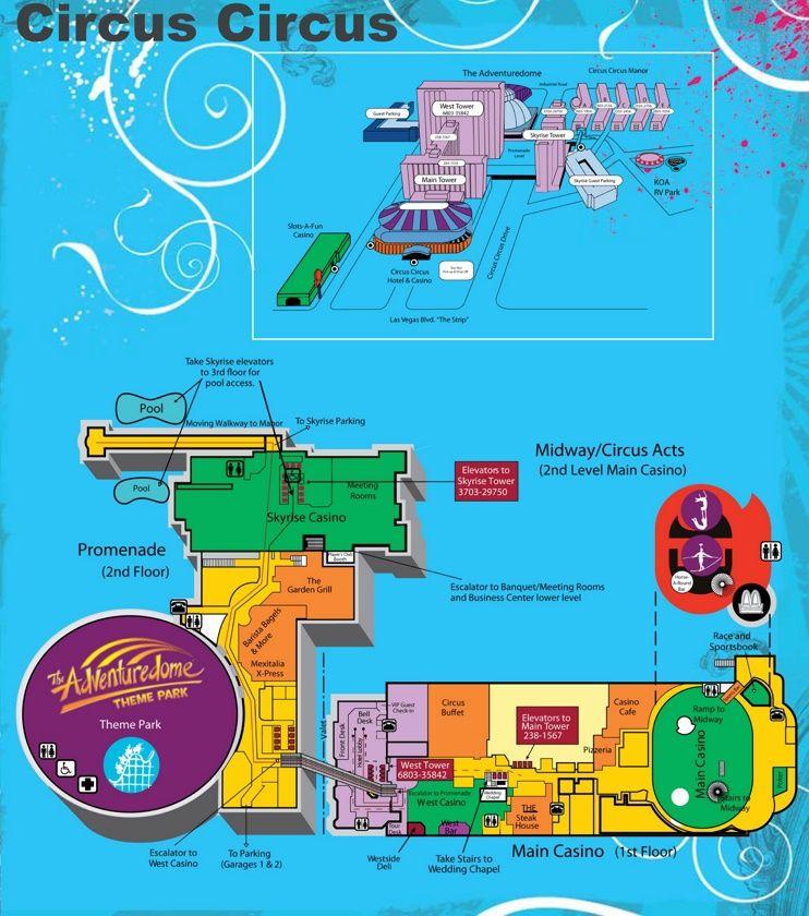 Las Vegas Circus Circus hotel map   Las Vegas in 2019   Circus ... on