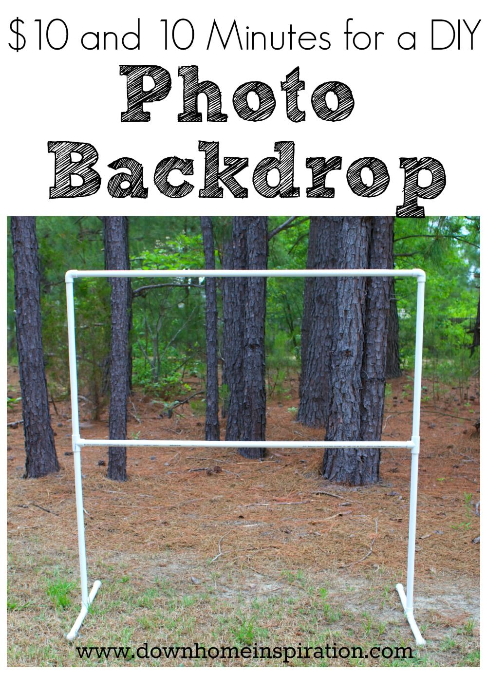 10 and 10 Minutes for a DIY Photo Backdrop Diy photo