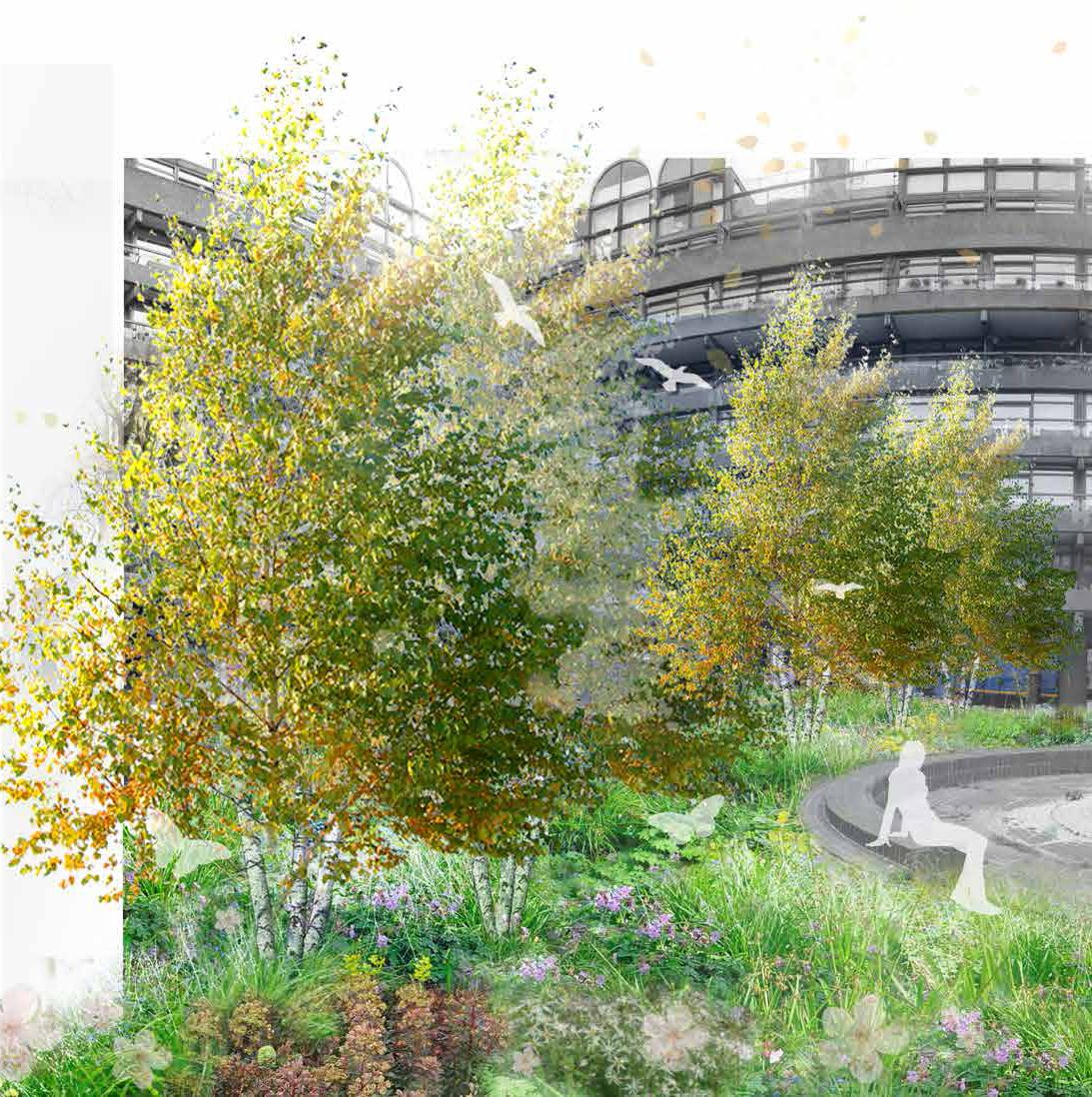 New green roof proposals for Beech Gardens, The Barbican