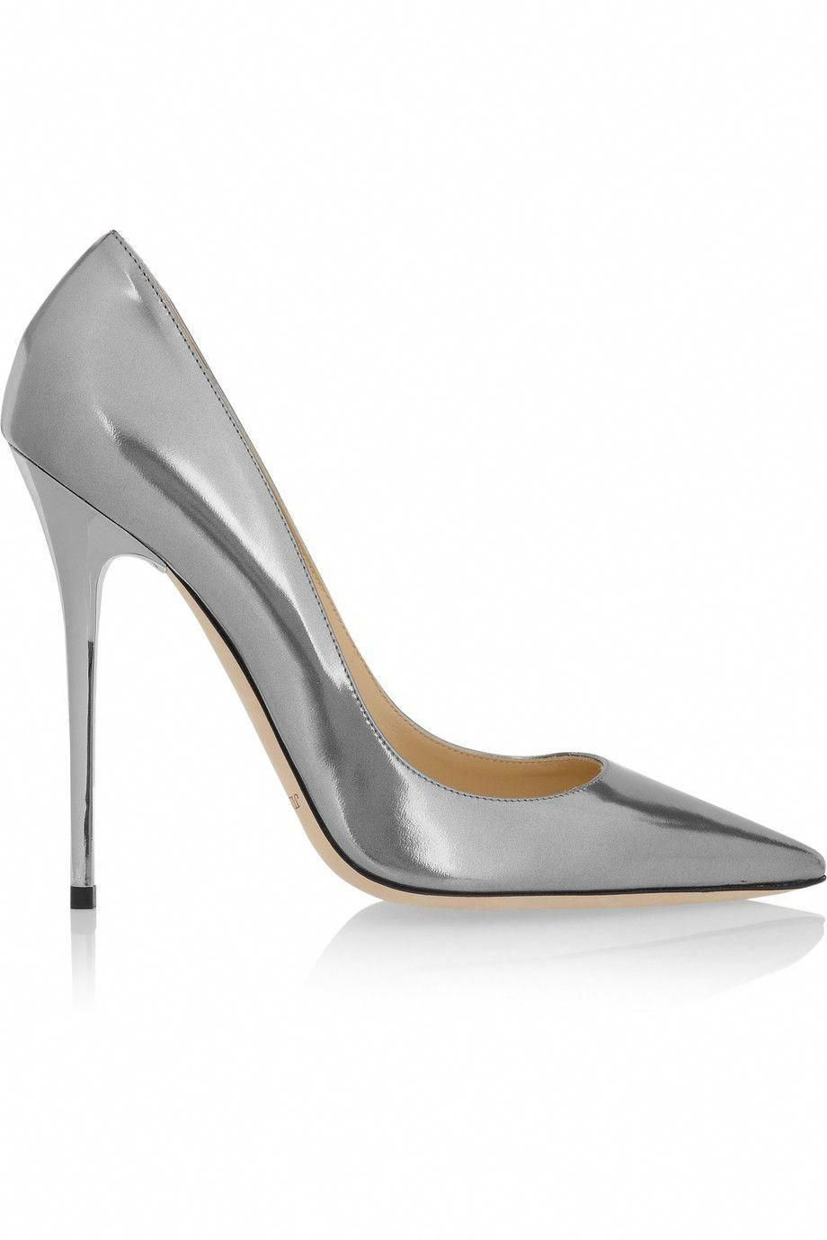 b2783d963 Jimmy Choo  Anouk  Silver Metallic Stiletto Pumps €450  Shoes  Heels  Choos   JimmyChoo