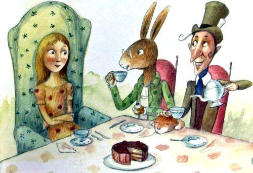 Alice In Wonderland Tea Party Alice In Wonderland Illustrations