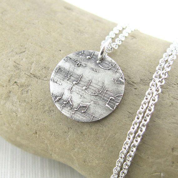 Sheet Music Charm Necklace Music In My Soul by JenniferCasady