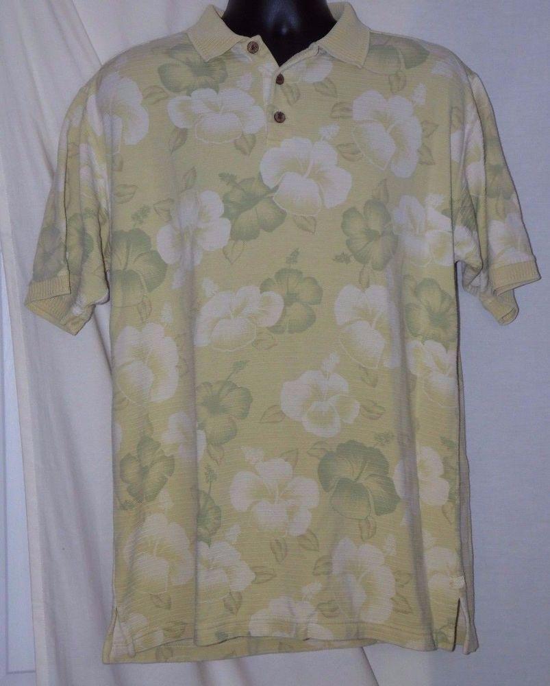 Tommy Bahama Multi-color Hawaiian Pattern Silk Blend Polo Shirt Size S #TommyBahama #PoloRugby