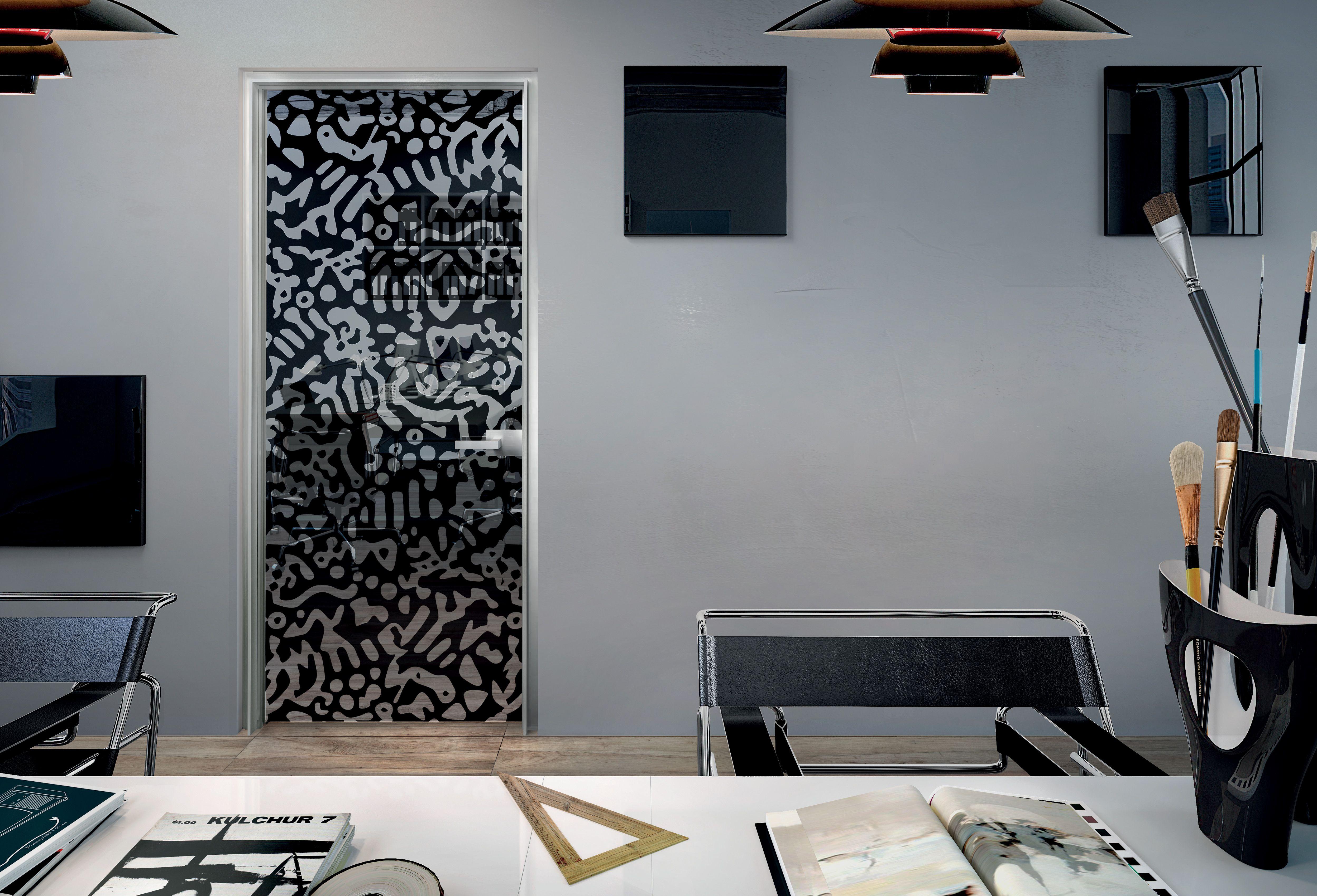 Cucina moderna in quercia in vetro in alluminio telero