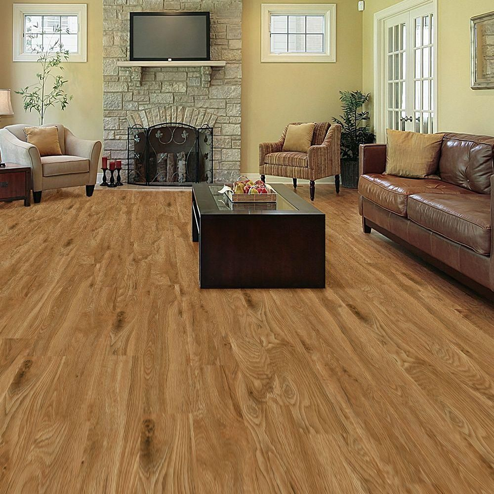 allure chatham oak resilient vinyl plank flooring 4 in take home sample at the home depot mobile - Allure Plank Flooring