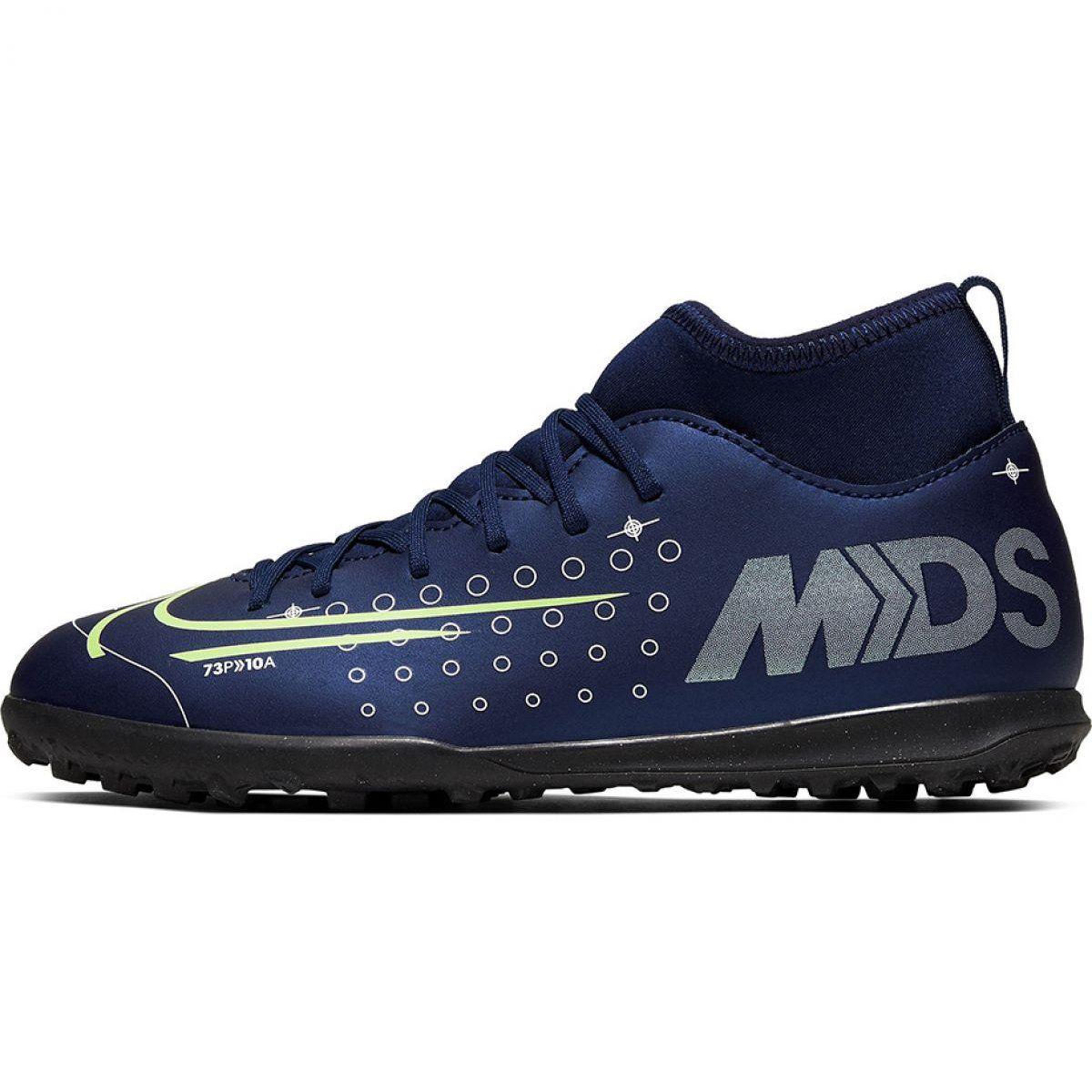 Buty Pilkarskie Nike Mercurial Superfly 7 Club Mds Tf Jr Bq5416 401 Granatowe Granatowe Football Shoes Superfly Shoes
