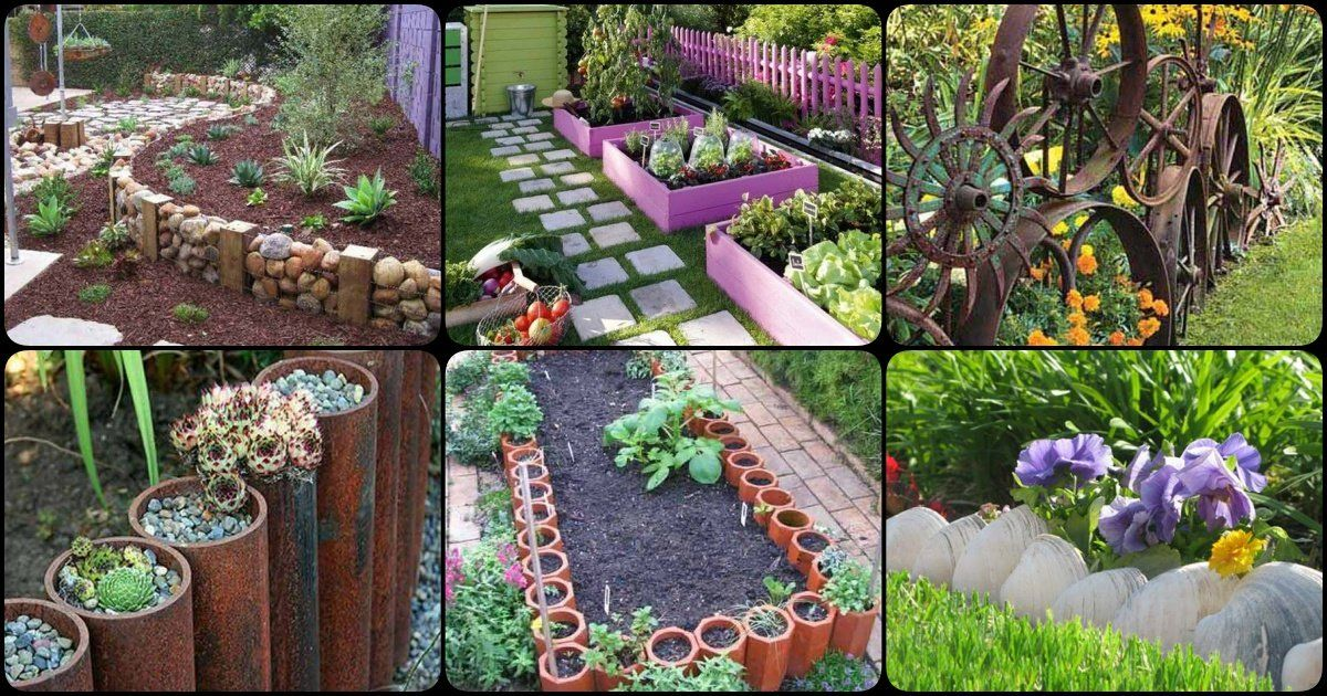30 diy garden bed edging ideas in 2020 landscaping with