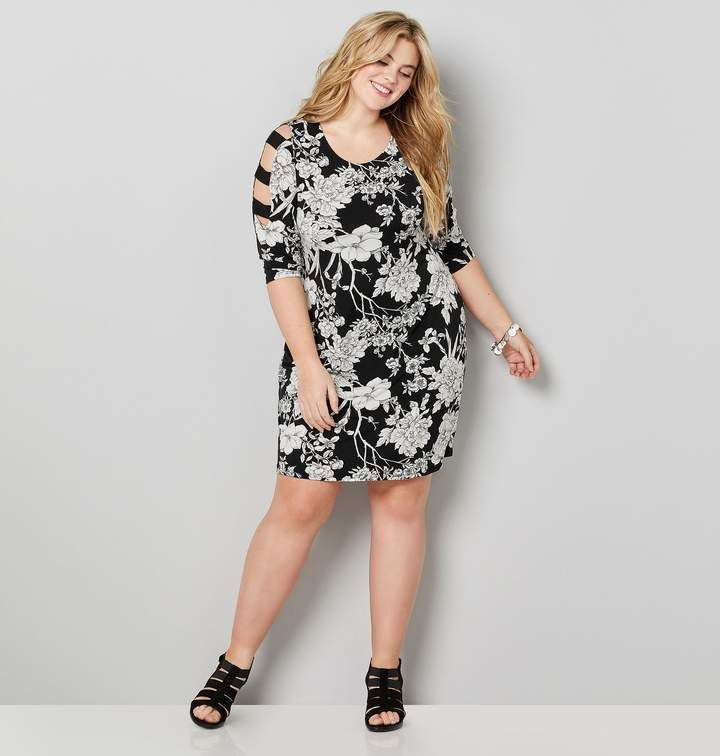 Avenue Plus Size Cage Sleeve Floral Sheath Dress | Products ...