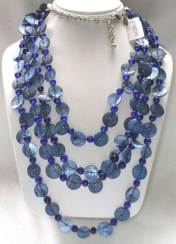 Cobalt beads and shells