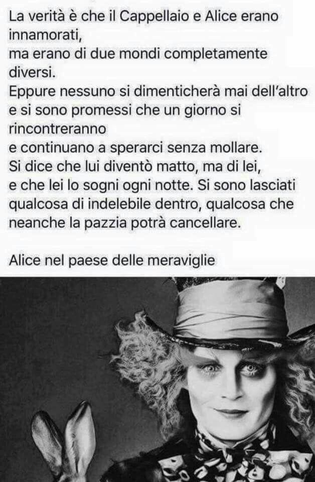 Alice In Wonderland Cappellaio Matto Citazioni Il Cappellaio
