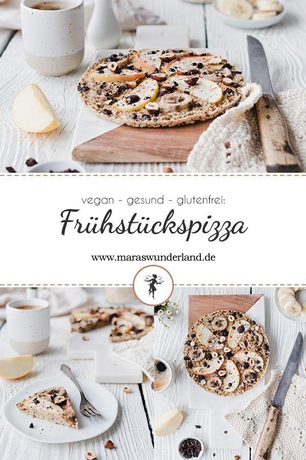 Gesunde Frühstückspizza mit Haferflocken • Maras Wunderland #healthybreakfast