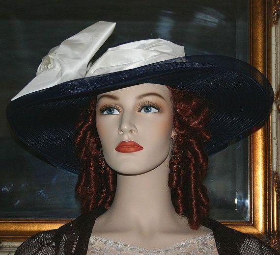 Kentucky Derby Hat Edwardian Hat Titanic Hat by darnasderbyhats, $229.00
