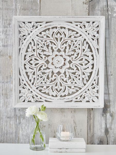 Our Beautifully Carved Square Wooden Wall Panel Makes A True