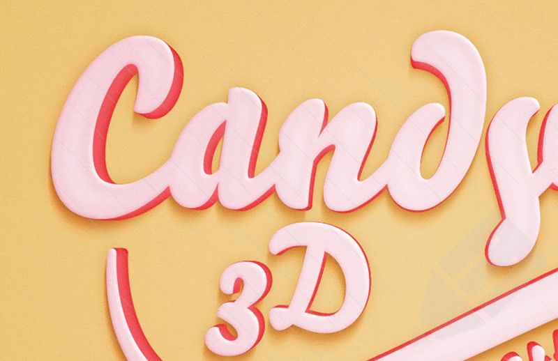 Medialoot - Candy 3D Text Effect