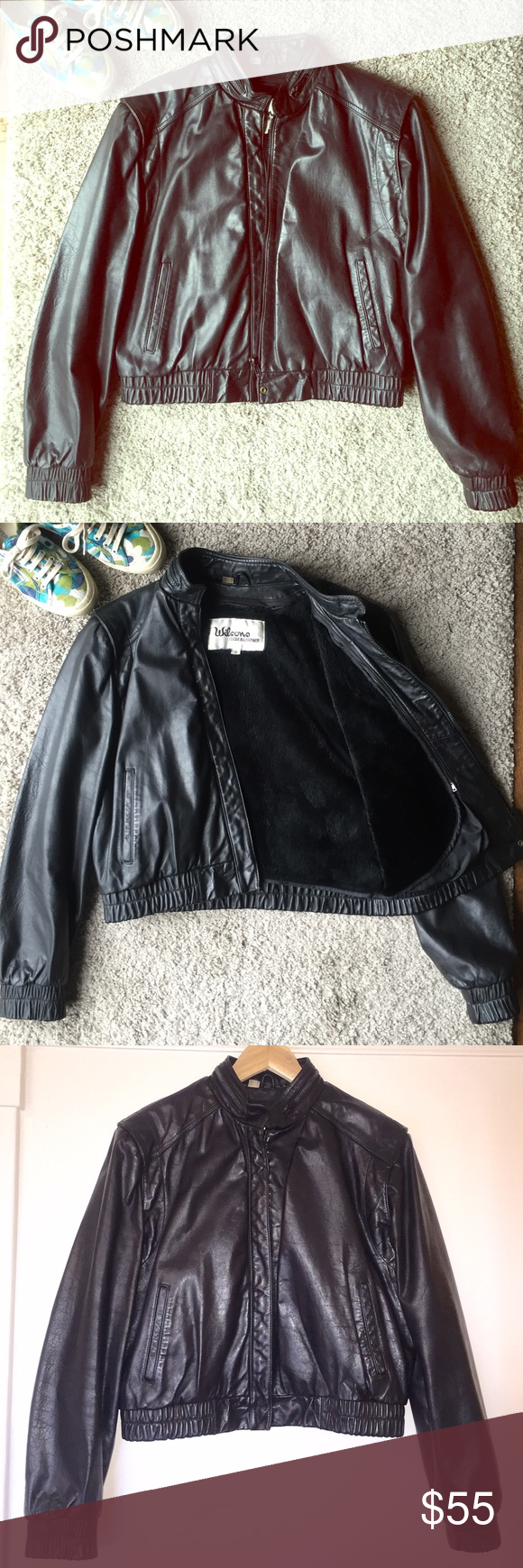 Vintage Wilsons Leather Bomber Fur leather jacket