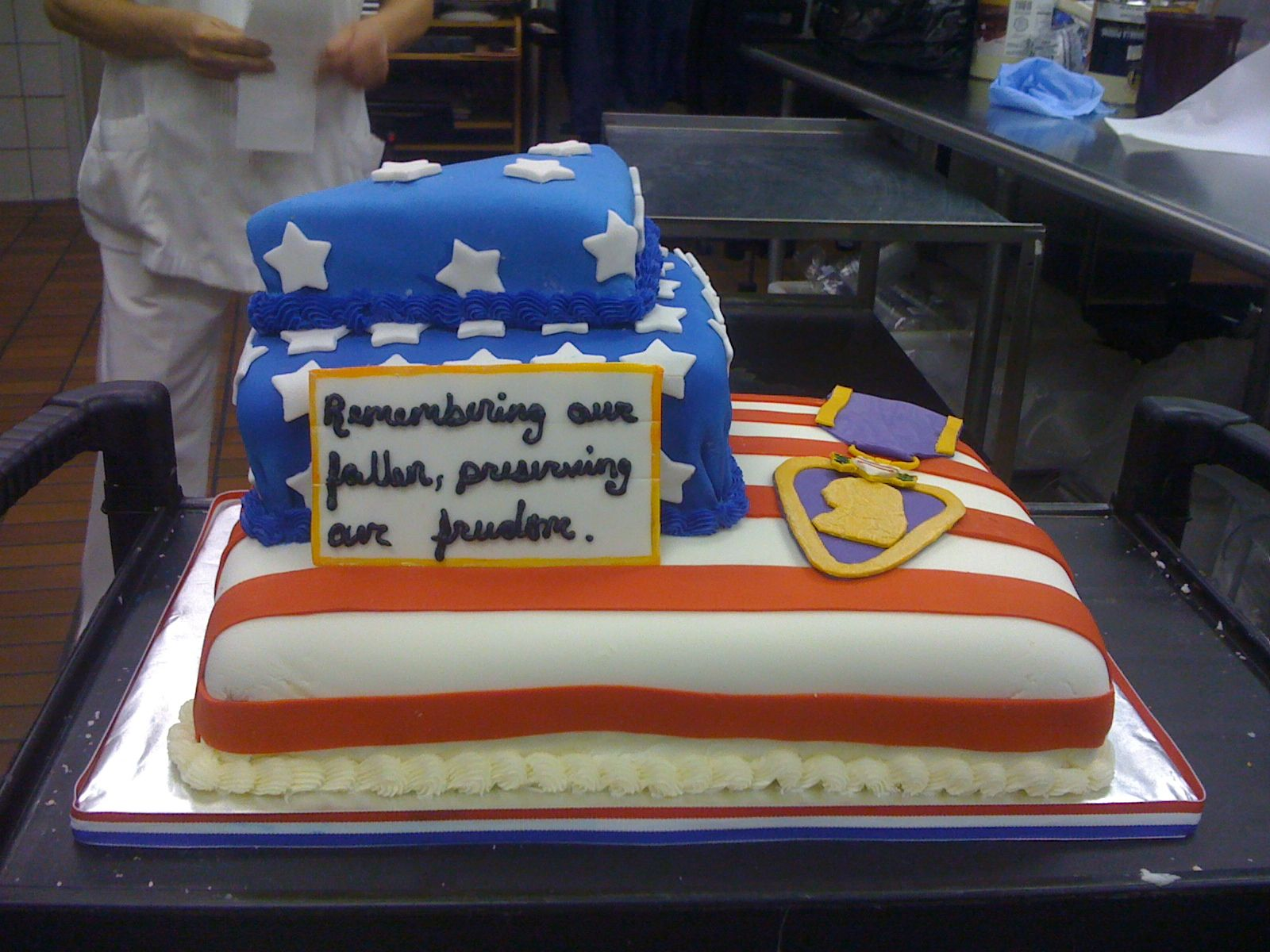 Memorial Day Cake Patriotic Cake Military Cake No Bake Cake