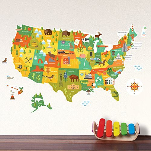 Petit Collage Wall Decal, Usa Petit Collage https://www.amazon.com ...