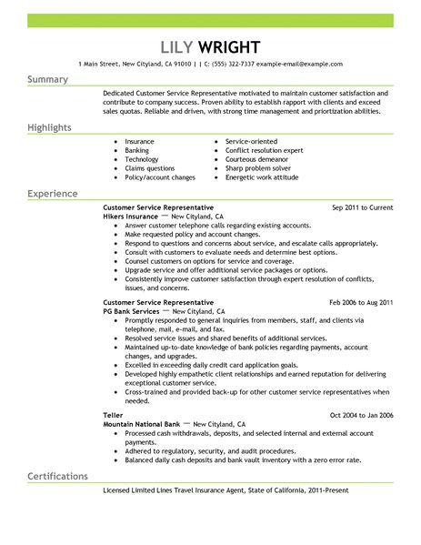 Customer Service And Sales Resume Amusing Customer Service Representative Resume Examples Bank Ilivearticlesfo .