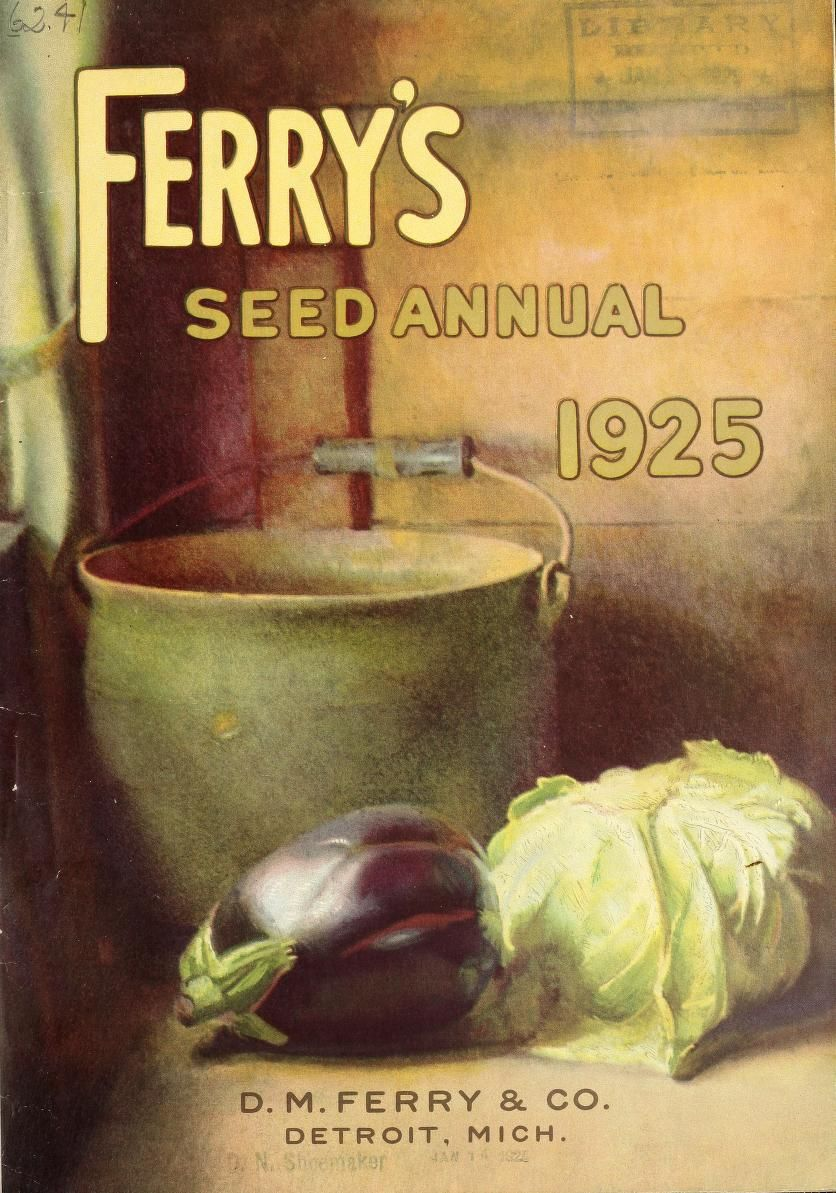 D.M. Ferry & Co,\'s - Seed annual, 1925 | №6 : Vintage Plant & Seed ...