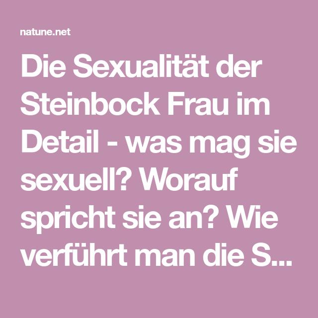 steinbock sexualität