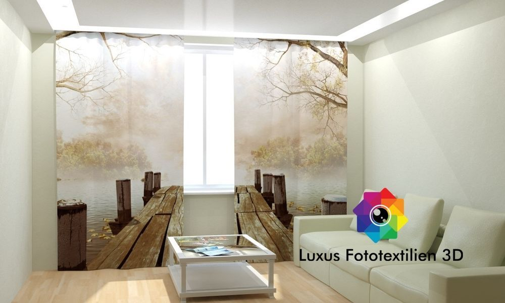 Details zu Fotogardinen 3D  - gardinen vorh nge wohnzimmer
